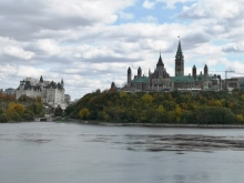 Parliament Buildings across Ottawa River