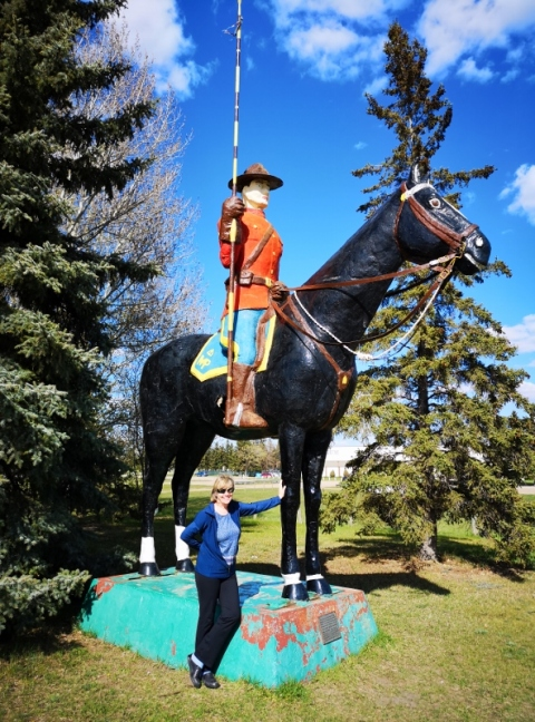 RCMP Statue North Battleford SK