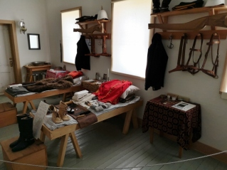 NWMP Barracks with each man's supplies on his bed