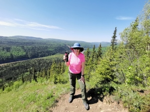 Sharon prepared with the Bear Spray