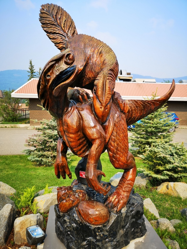 Carving at Tumbler Ridge Visitor Centre