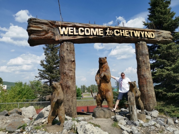 Chetwynd Carvings - The carving that started the idea of the competition. The town had 42 event to raise money to get this carving done.
