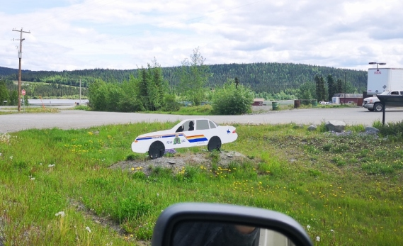 Teslin fake RCMP car