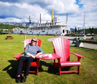 S.S. Klondike - National Historic Site so of course the red chair photo