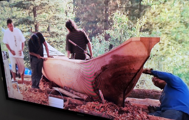 Making the dugout canoe