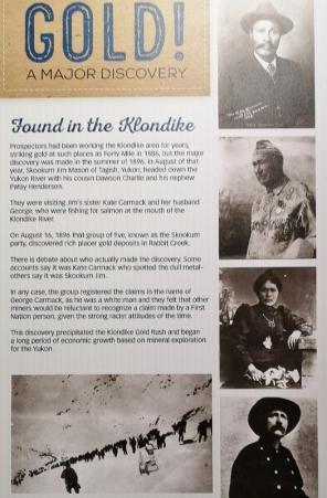 Klondike gold discovery