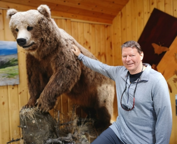 Grizzly in Visitor Centre