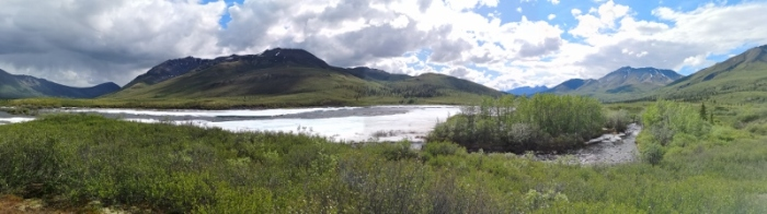 Panorama along Klondike River Trail