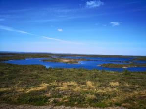 Lake views on trip back to Inuvik