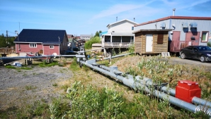 Water and sewer pipes in Inuvik