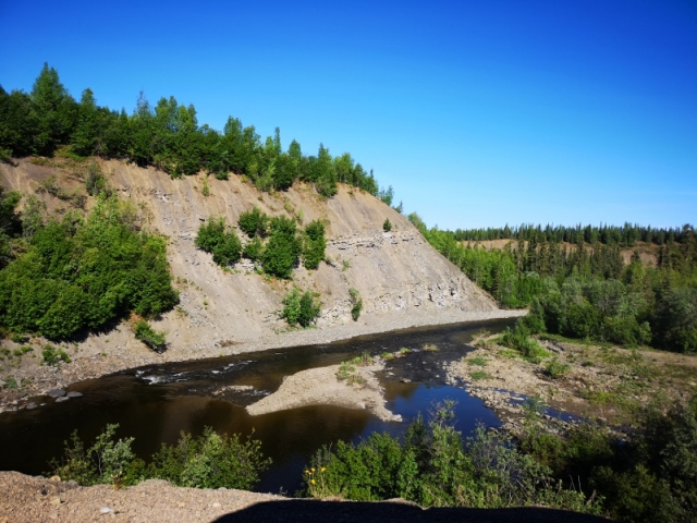 View along the road in the NWT