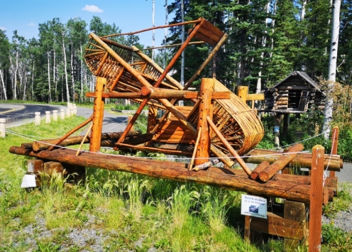 Fish Wheel at the NP visitor centre