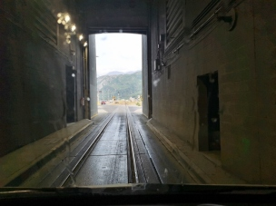 Exiting Train Tunnel to Whittier