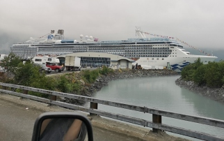 Island Princess docked in Whittier