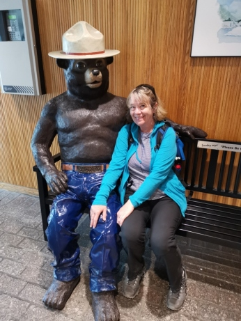 Sharon with Smokey