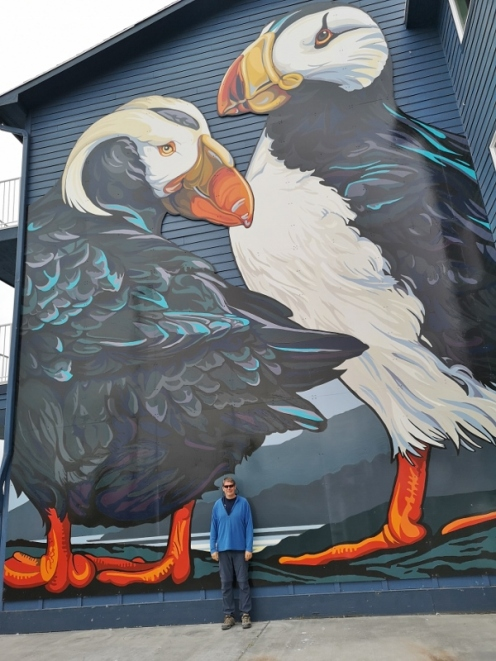 Puffins mural