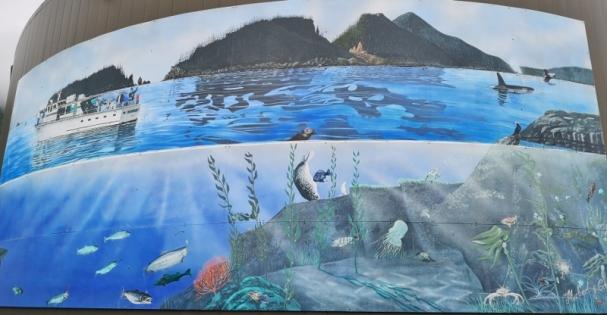 Downtown Seward mural
