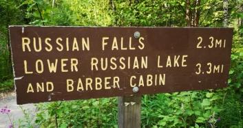 Russian Falls trail
