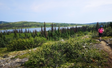 Hiking by Lake 1787