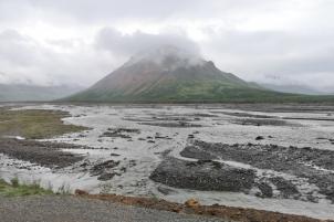 Divide Mountain between Toklat River forks