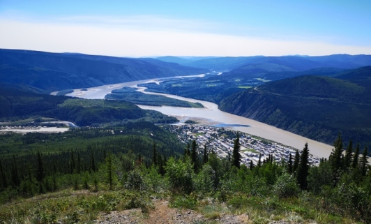 Dawson City with the Yukon River