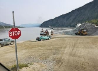 Yukon River ferry from Dawson City
