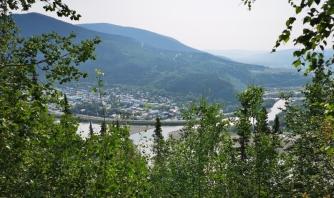 Klondike River joins the Yukon River in Dawson City