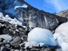 Sharon touches Worthington Glacier
