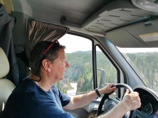 A little nerve racking driving Kuskulana Bridge