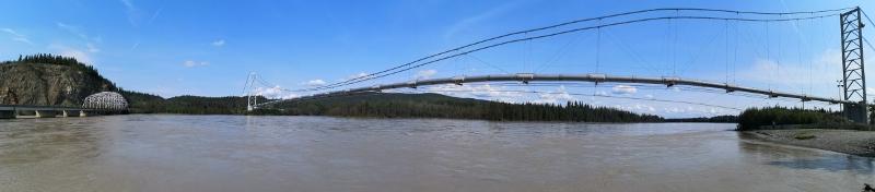 Tanana river pipeline bridge