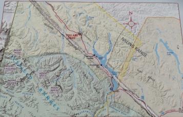 Red line is the Alaska Highway