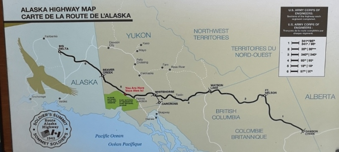 Sections of the Alaska Highway build