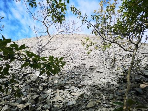 Front edge of Rock Glacier