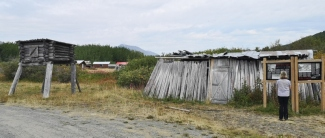 Meat cache and fish drying building