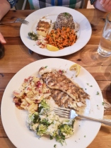 Grilled Rockfish and Halibut with amazing side dishes