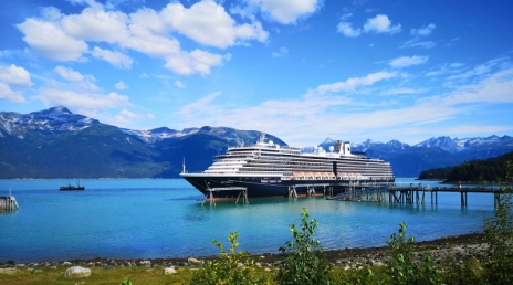 Crusie ship in Haines harbour