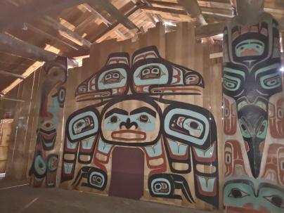 Inside Chilkat Tribal House