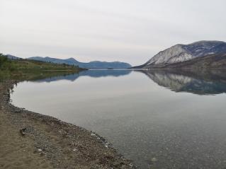 Calm night on Windy Arm of Tagish Lake