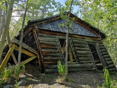 Cabin with root cellar inside