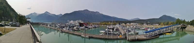 Skagway Harbour - only 2 cruise ships in on Monday