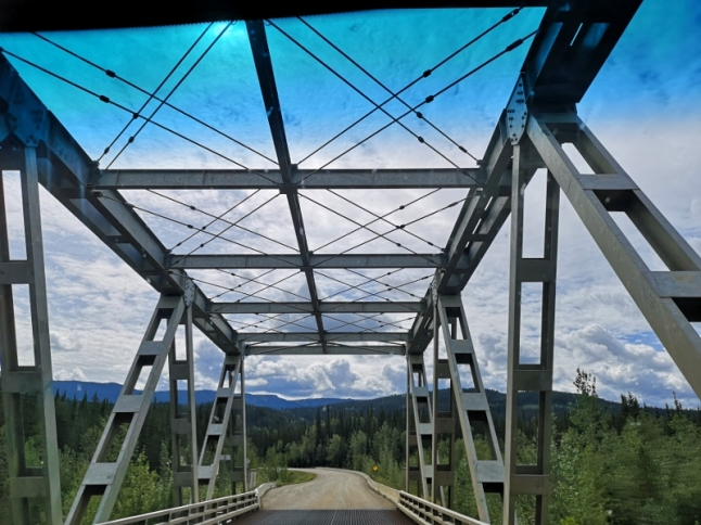 One of the bridges along the Cassiar Highway