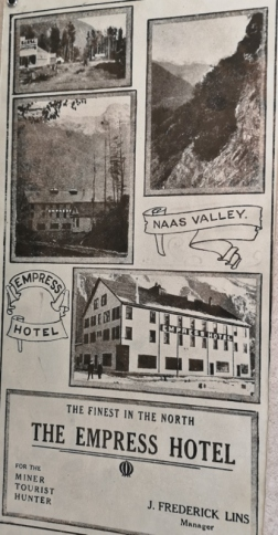 Ad for the Empress Hotel