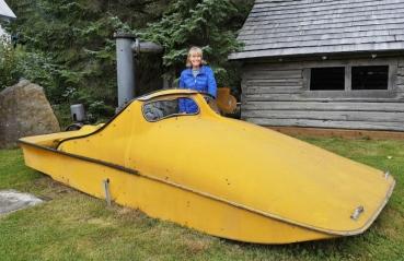 Strange Swedish boat on display
