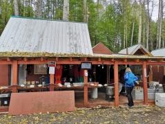 Fish processing hut