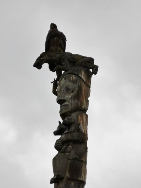 Golden Eagle on top of Totem Pole