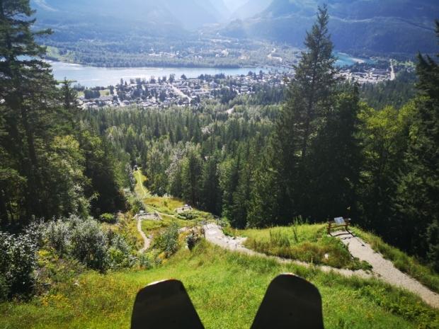 View down from Nels Nelsen Ski jump