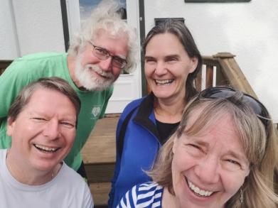 Visiting cousin Barb and John in Regina