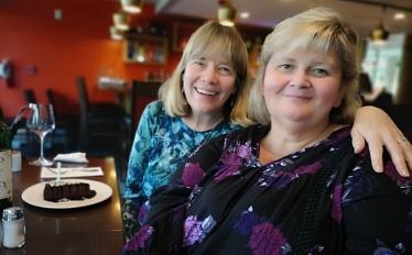 Sharon's birthday dinner at Prairie's Edge restuarant in Kildonan Park