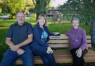 Visiting Maya's Bench in Kildonan Park