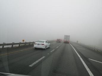 Fog over the Appalachian Mountains